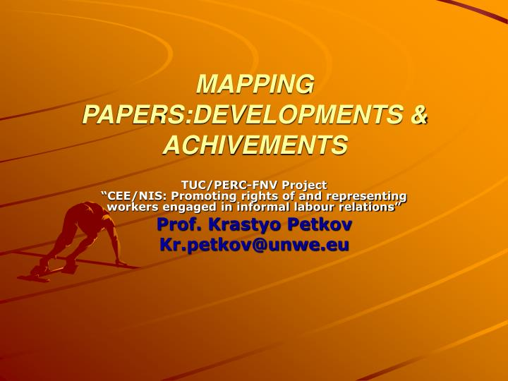 Mapping papers developments achivements