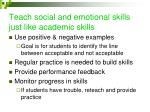 teach social and emotional skills just like academic skills