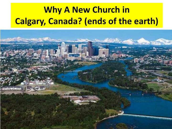 Why A New Church in