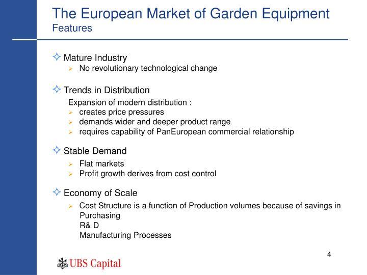 The European Market of Garden Equipment