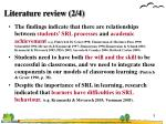 literature review 2 4