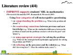 literature review 4 4