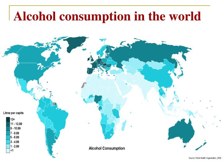 Alcohol consumption in the world
