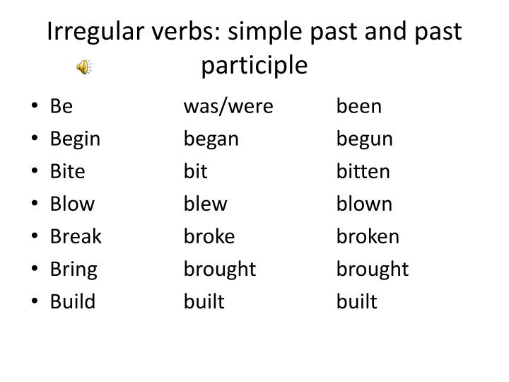 begin participle