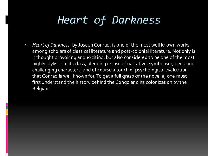 symbolism heart darkness joseph conrad