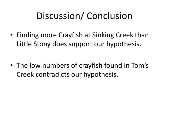 Discussion/ Conclusion