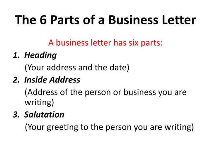 Ppt The Business Letter Powerpoint Presentation Id2775364