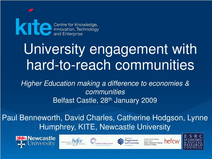 PPT - University engagement with hard-to-reach communities