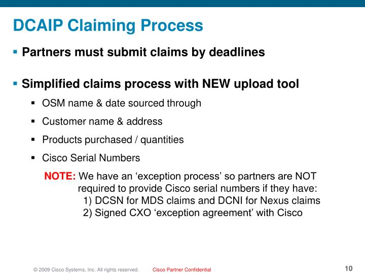 Partners must submit claims by deadlines