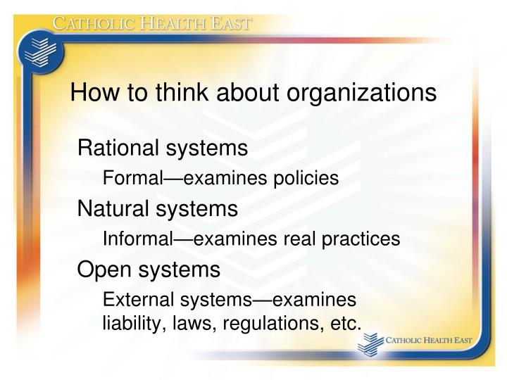 How to think about organizations
