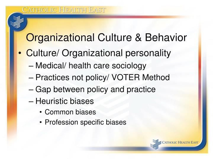 Organizational Culture & Behavior