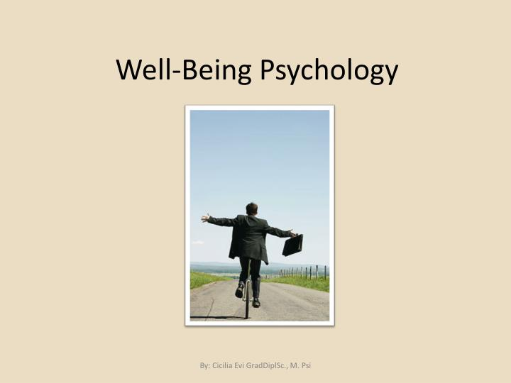well being psychology n.