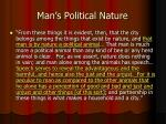 man s political nature