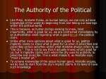 the authority of the political