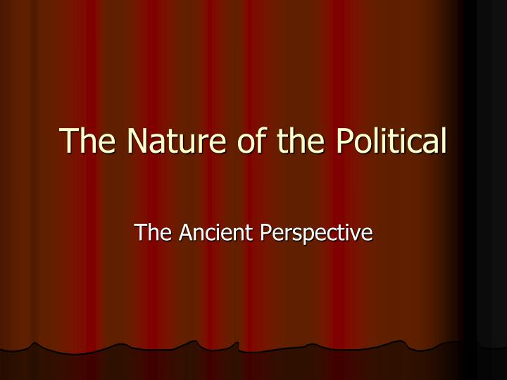 the nature of the political n.