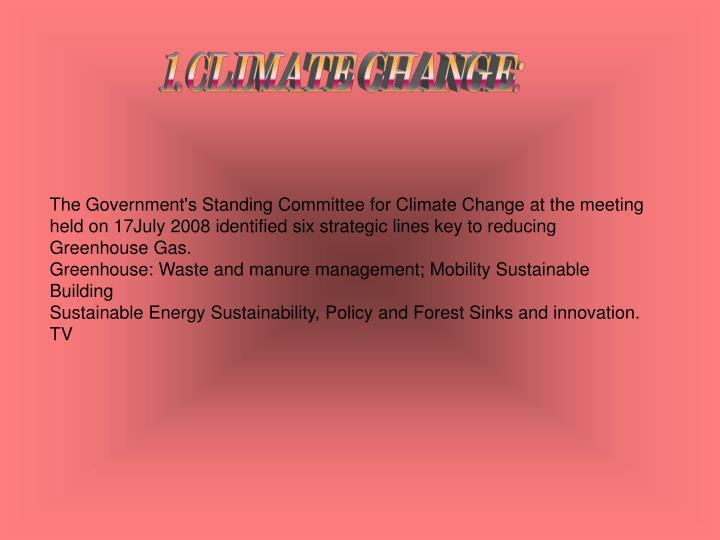 1.CLIMATE CHANGE:
