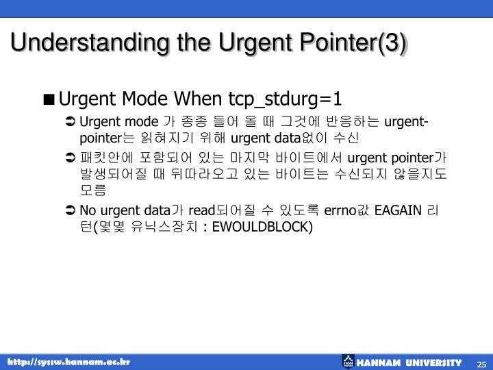 Understanding the Urgent Pointer(3)