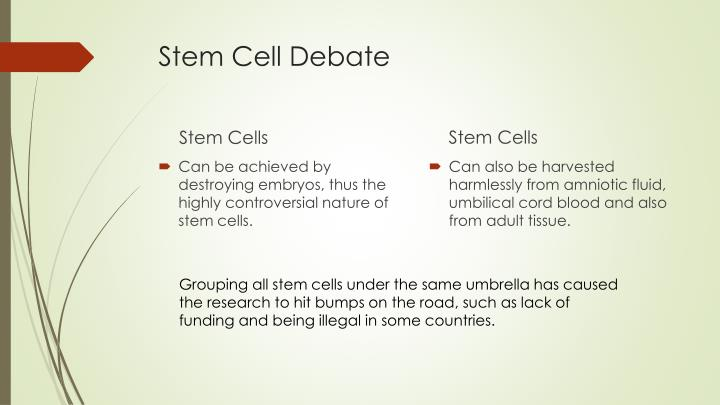 stem cell technology the controversies surrounding Home the controversy over stem cell research, may 27, 2001 november 19, 2014 what i've described is referred to as adult stem cells there is no controversy revolving around the use of human adult stem cells in research.