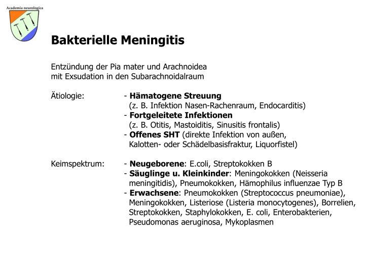 Bakterielle Meningitis