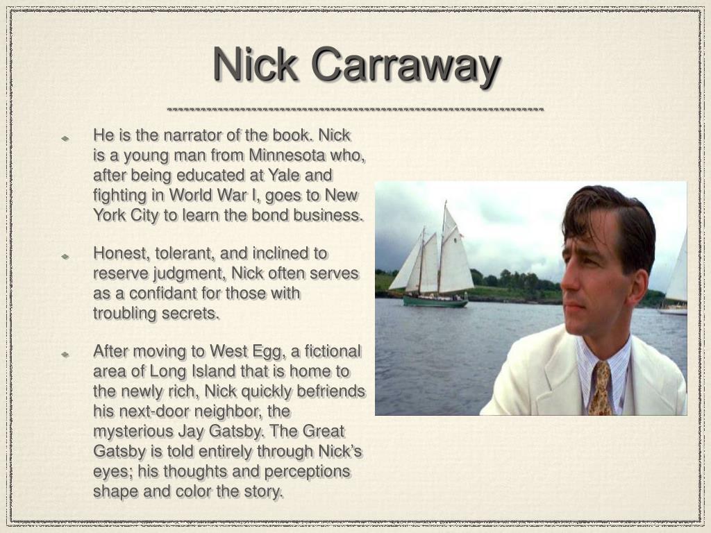 physical description of nick carraway