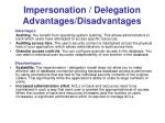 impersonation delegation advantages disadvantages