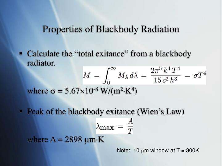 Properties of Blackbody Radiation