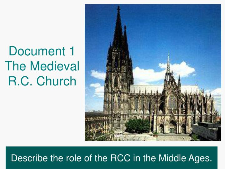 Document 1 the medieval r c church