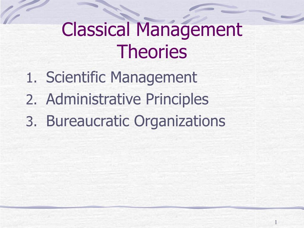 what is classical management