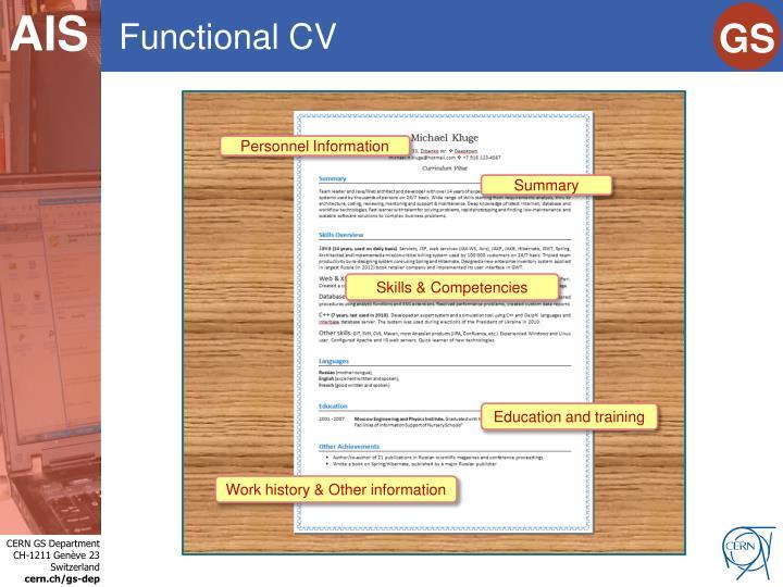 Functional CV