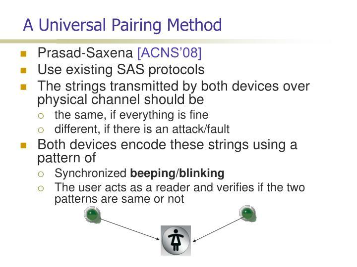 A Universal Pairing Method