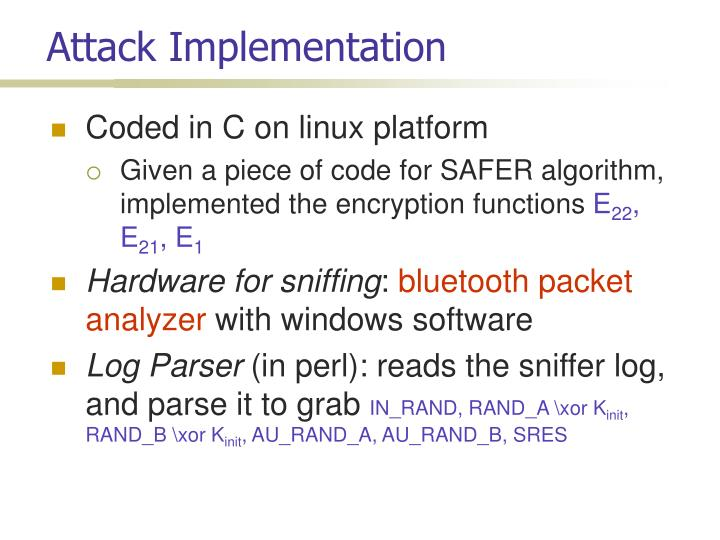 Attack Implementation