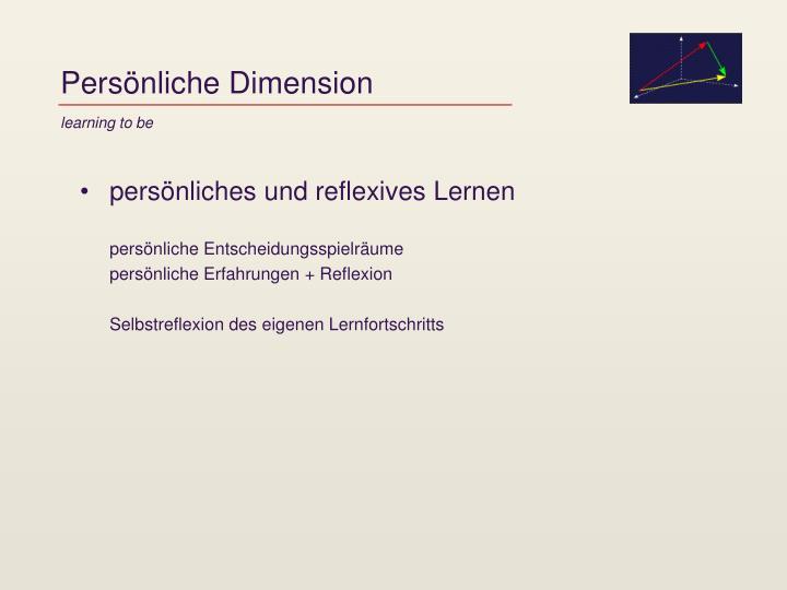 Persönliche Dimension