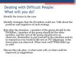 dealing with difficult people what will you do