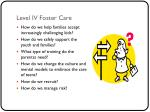 level iv foster care
