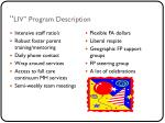 liv program description