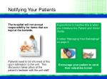 notifying your patients