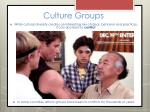 culture groups16