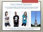 how ideas spread