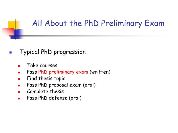 ppt - all about the phd preliminary exam powerpoint presentation, Presentation templates