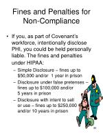 fines and penalties for non compliance