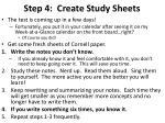 step 4 create study sheets