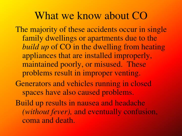 What we know about co