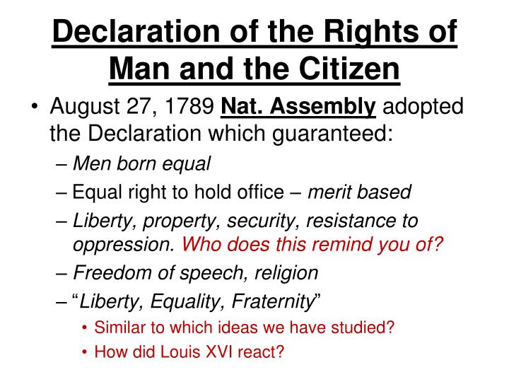 Declaration of the Rights of Man and the Citizen
