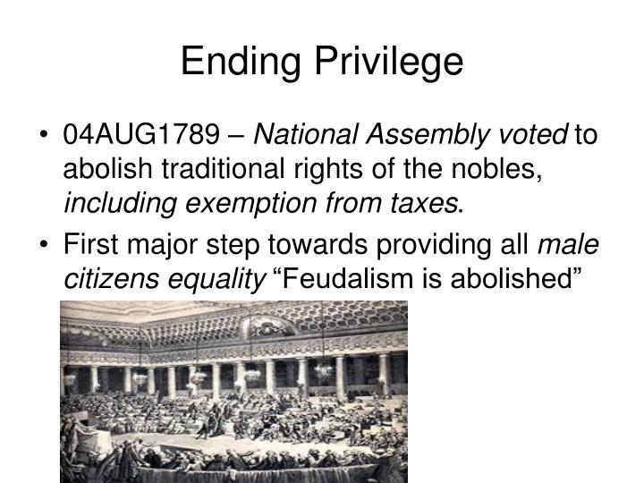 Ending Privilege