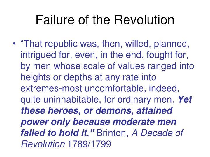 Failure of the Revolution