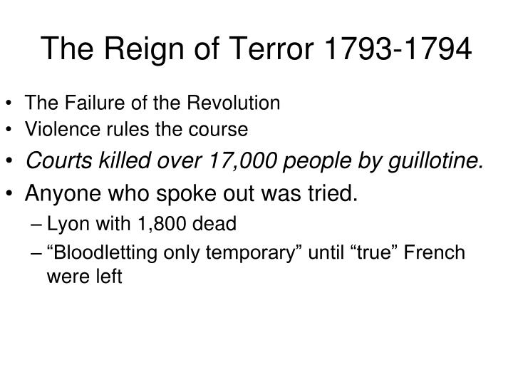 The Reign of Terror 1793-1794