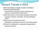 recent trends in kea