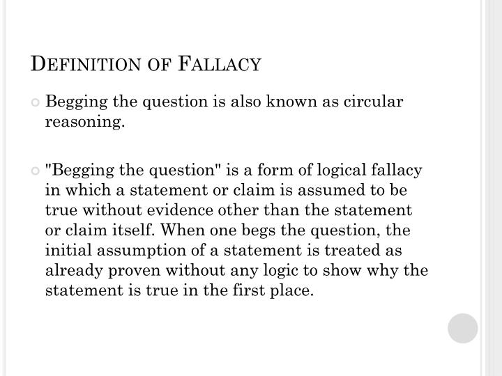 Definition of Fallacy