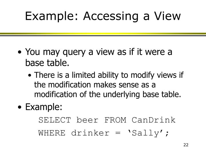 Example: Accessing a View
