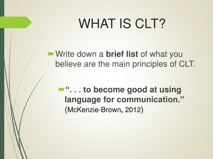 what is clt